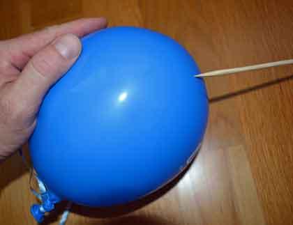 Balloons on Sticks Stick Through Balloon