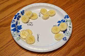 science with bananas