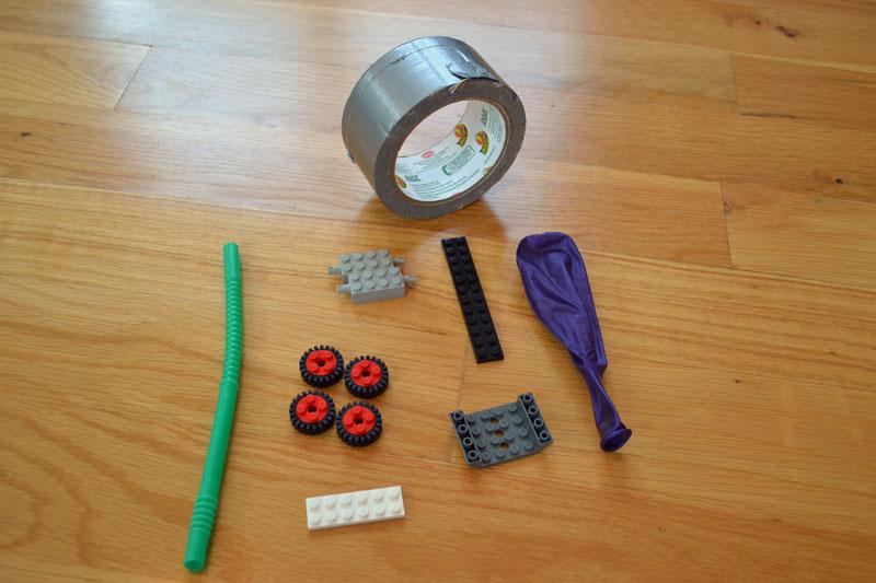 Build a balloon-powered LEGO car - 10 Fun LEGO Science Activities