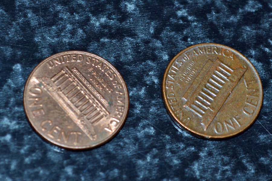 how to clean a penny science project