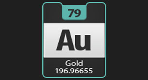 Facts about gold science with kids facts about gold on the periodic table of elements gold has the symbol au urtaz Images