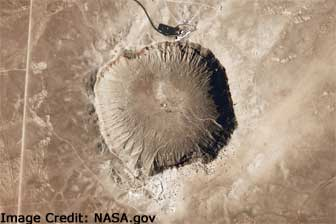 Meteor Crater aerial view