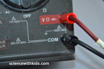 test a LED voltage with multimeter